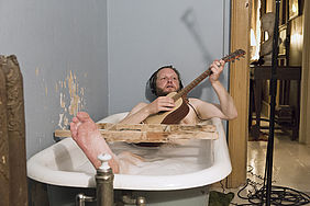 Ragnar Kjartansson: The Visitors, 2012, Nine channel HD video projection, 64 minutes; Courtesy the artist.